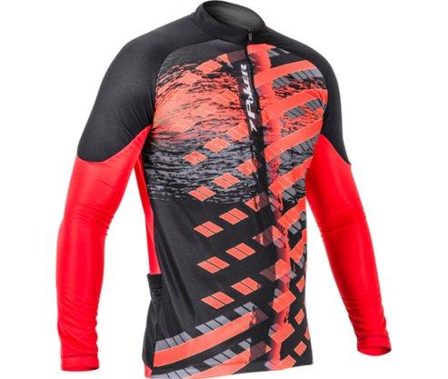Camisa Ciclista Poker Ziper M/l Freeride Masculina 04035-VP