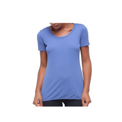 Camiseta Alto Giro Skin Fit Alongada Feminina 2011702-C0996