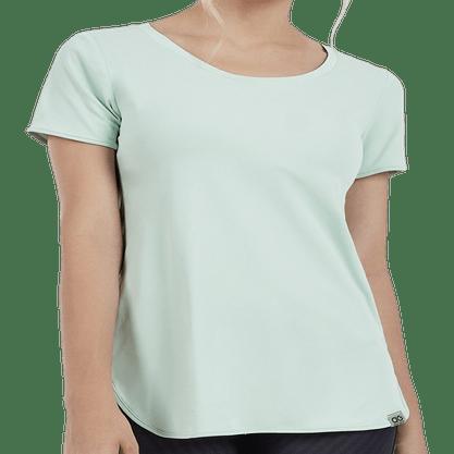 Camiseta Alto Giro Skin Fit Alongada Feminina 2011702-C5010