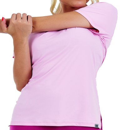 Camiseta Alto Giro Skin Fit Alongada Feminina 2011706-C5008