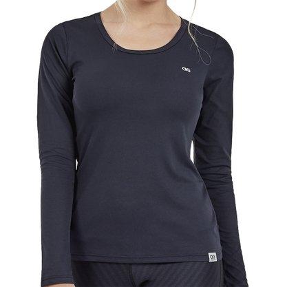 Camiseta Alto Giro Skin Fit M/L Feminina 101705-C0049
