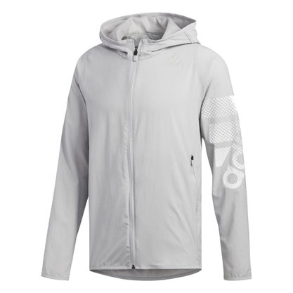 Jaqueta Corta Vento Adidas Logo Hoodie Masculina EB7903